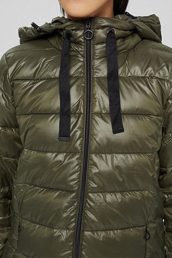 En matière recyclée: la veste matelassée à capuche, DARK KHAKI, detail image number 2