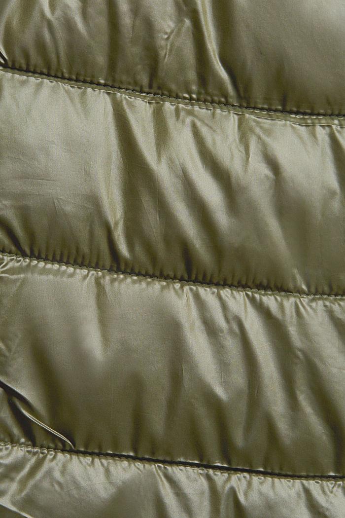 En matière recyclée: la veste matelassée à capuche, DARK KHAKI, detail image number 4
