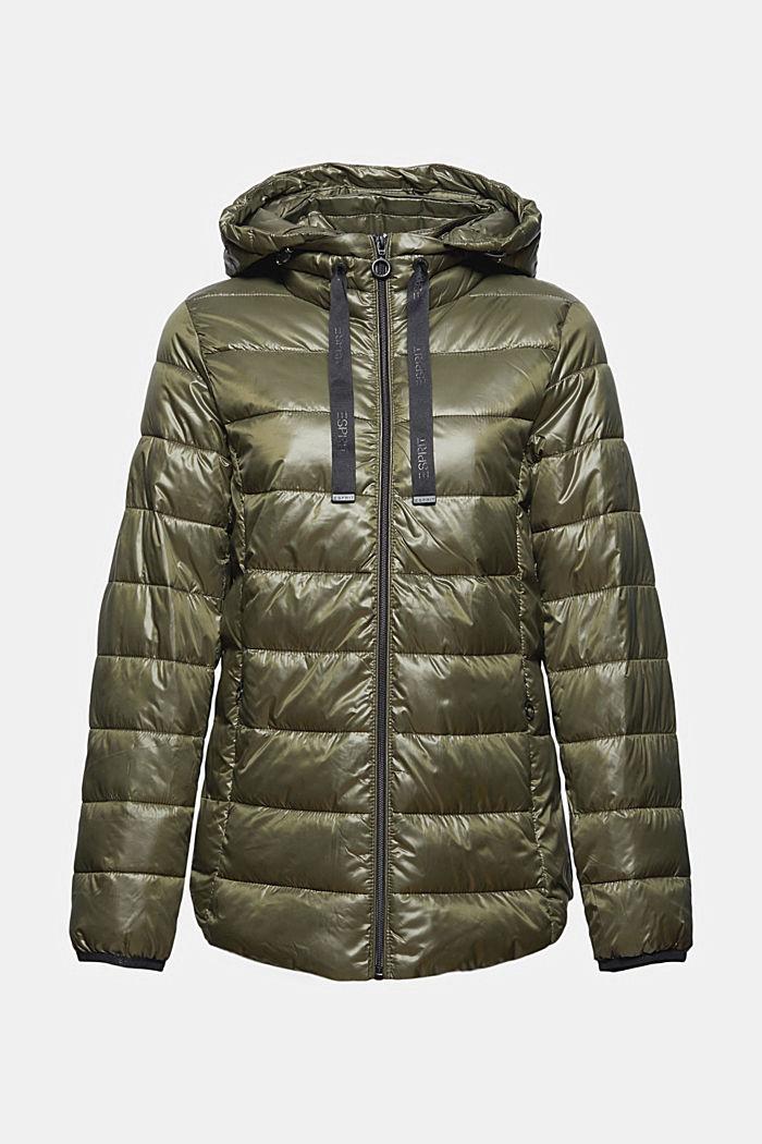 En matière recyclée: la veste matelassée à capuche, DARK KHAKI, detail image number 7
