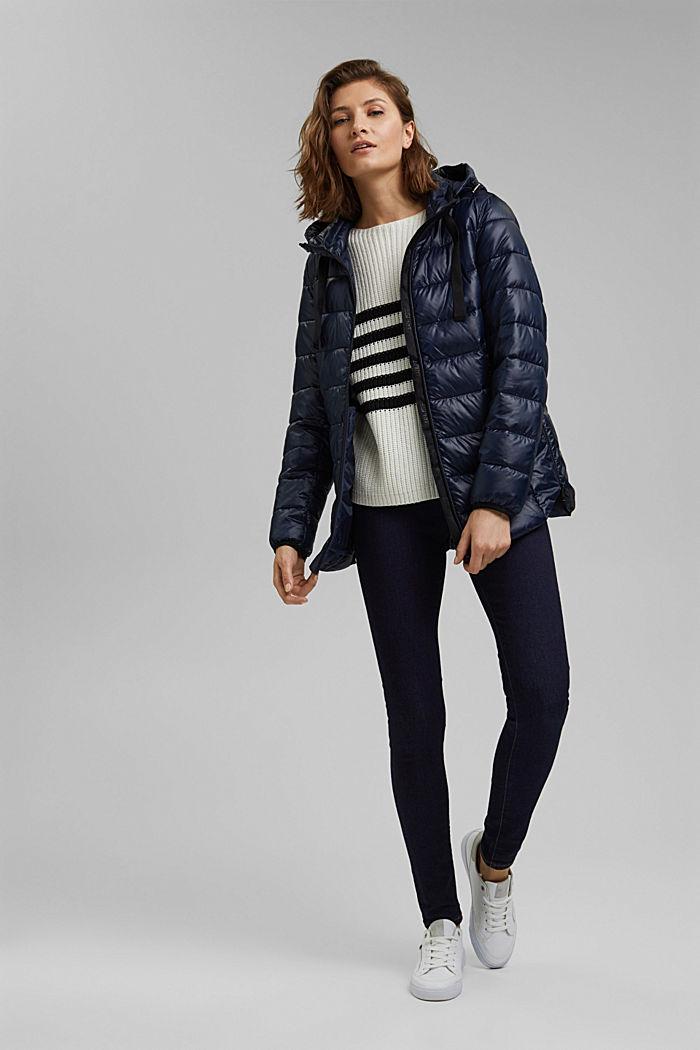 En matière recyclée: la veste matelassée à capuche