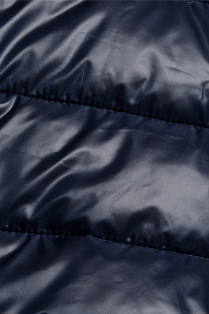 Recycled: lightweight quilted jacket with a hood, NAVY, detail image number 4