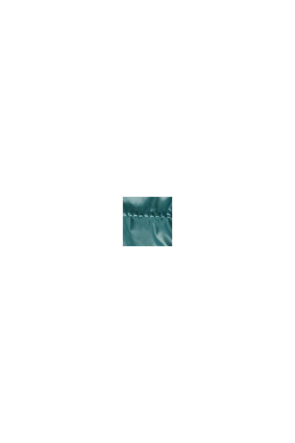 Gerecycled: lichte, gewatteerde jas met capuchon, TEAL BLUE, swatch