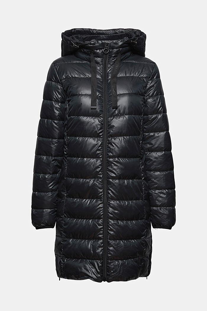 En matière recyclée: le manteau matelassé léger à capuche, BLACK, detail image number 6