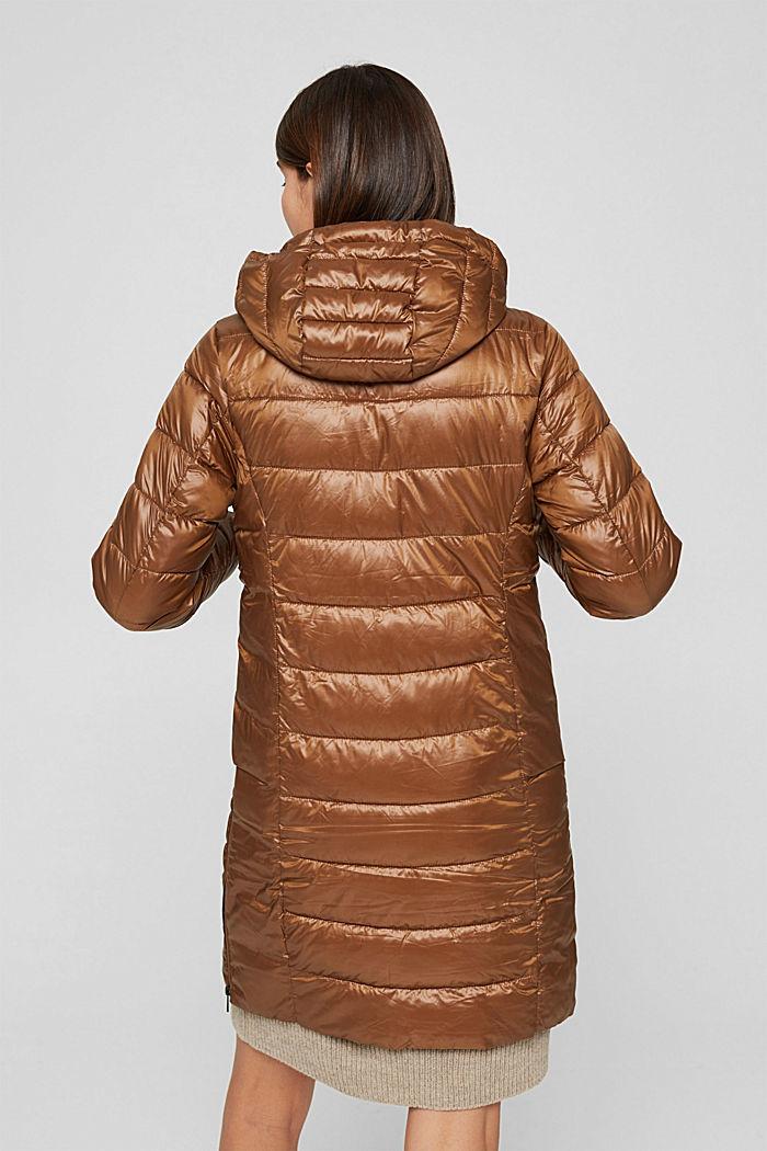 Reciclado: abrigo acolchado ligero con capucha, TOFFEE, detail image number 3