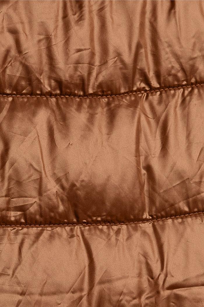 Reciclado: abrigo acolchado ligero con capucha, TOFFEE, detail image number 4