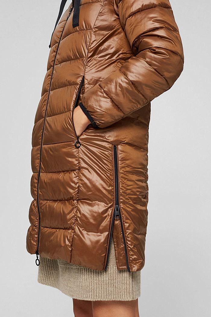 Reciclado: abrigo acolchado ligero con capucha, TOFFEE, detail image number 5