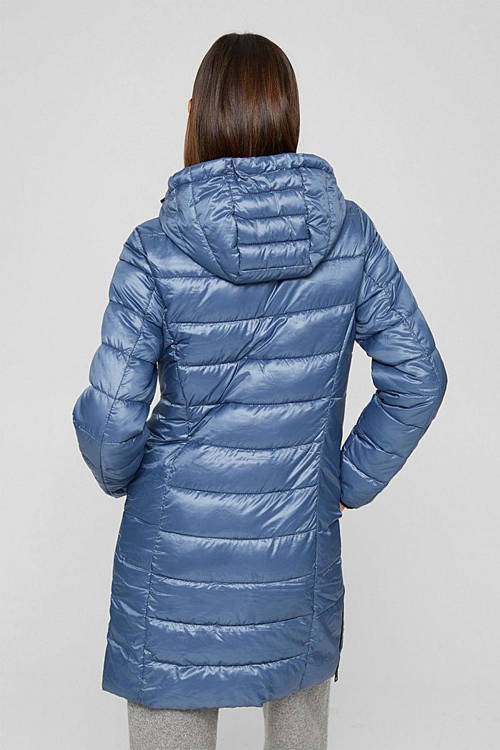 Reciclado: abrigo acolchado ligero con capucha, GREY BLUE, detail image number 3