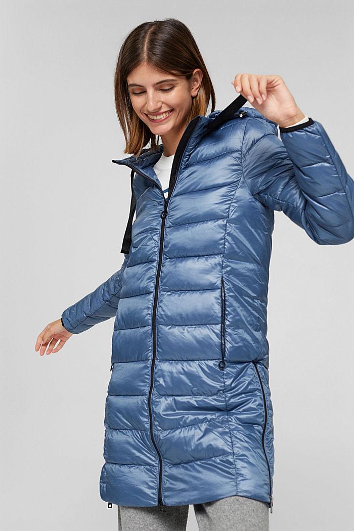 Reciclado: abrigo acolchado ligero con capucha, GREY BLUE, detail image number 6