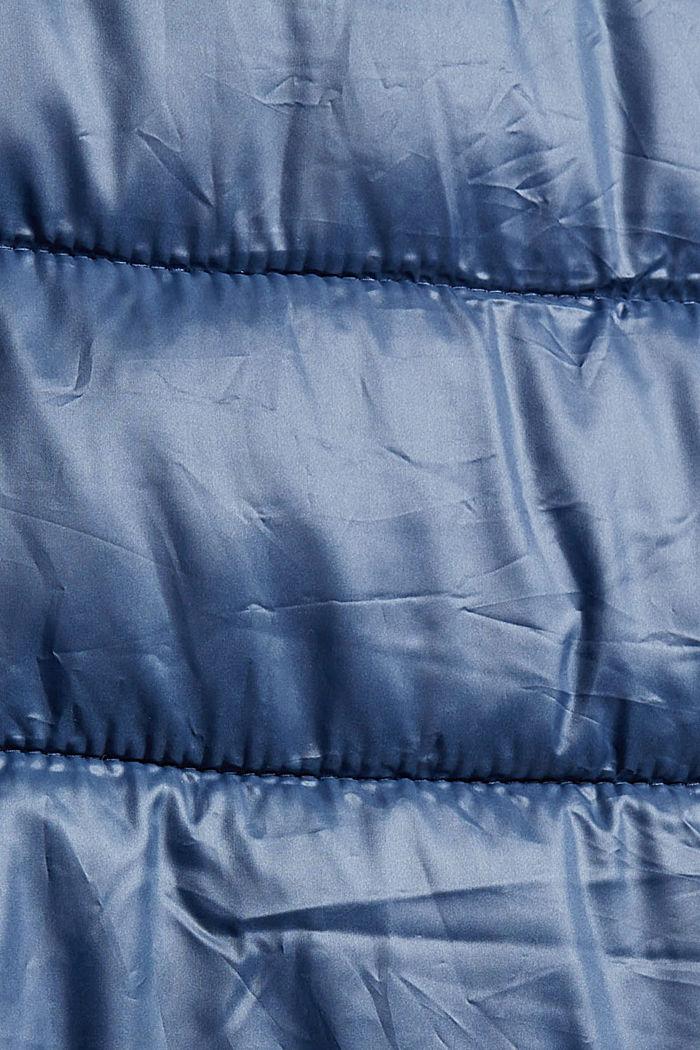 Reciclado: abrigo acolchado ligero con capucha, GREY BLUE, detail image number 4