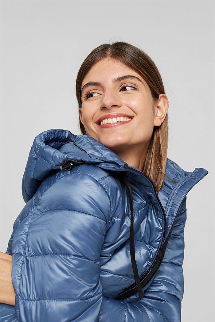 Reciclado: abrigo acolchado ligero con capucha, GREY BLUE, detail image number 7
