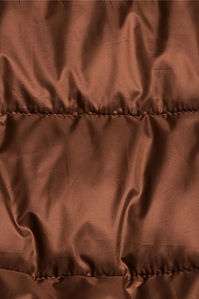 Gerecycled: superlichte gewatteerde jas in bomberjackstijl, TOFFEE, detail image number 4