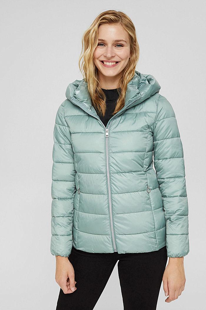 En matière recyclée: la veste matelassée à teneur en 3M™ Thinsulate™, DUSTY GREEN, detail image number 6