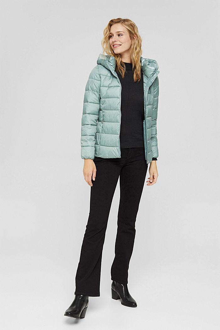En matière recyclée: la veste matelassée à teneur en 3M™ Thinsulate™, DUSTY GREEN, detail image number 1
