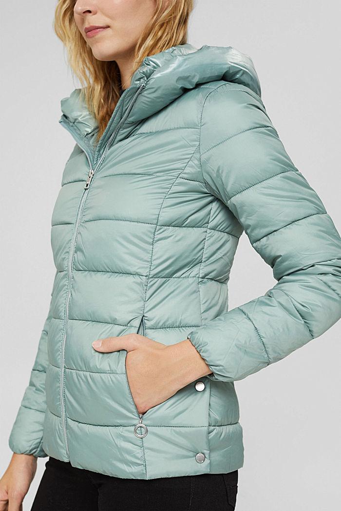 En matière recyclée: la veste matelassée à teneur en 3M™ Thinsulate™, DUSTY GREEN, detail image number 2