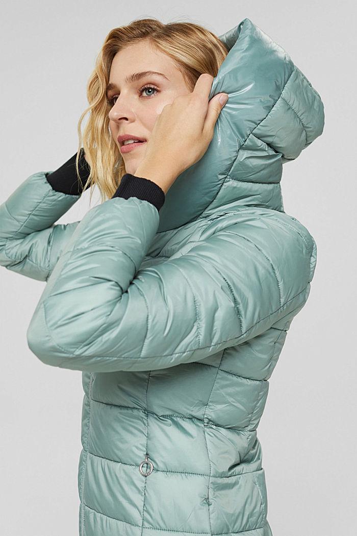 En matière recyclée: la veste matelassée à teneur en 3M™ Thinsulate™, DUSTY GREEN, detail image number 5