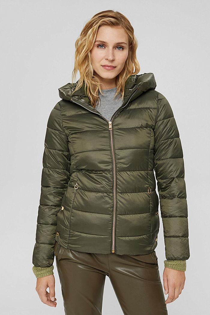 En matière recyclée: la veste matelassée à teneur en 3M™ Thinsulate™, DARK KHAKI, detail image number 0