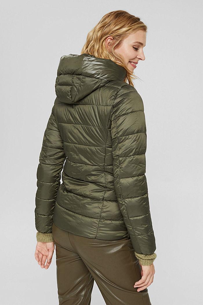 En matière recyclée: la veste matelassée à teneur en 3M™ Thinsulate™, DARK KHAKI, detail image number 3