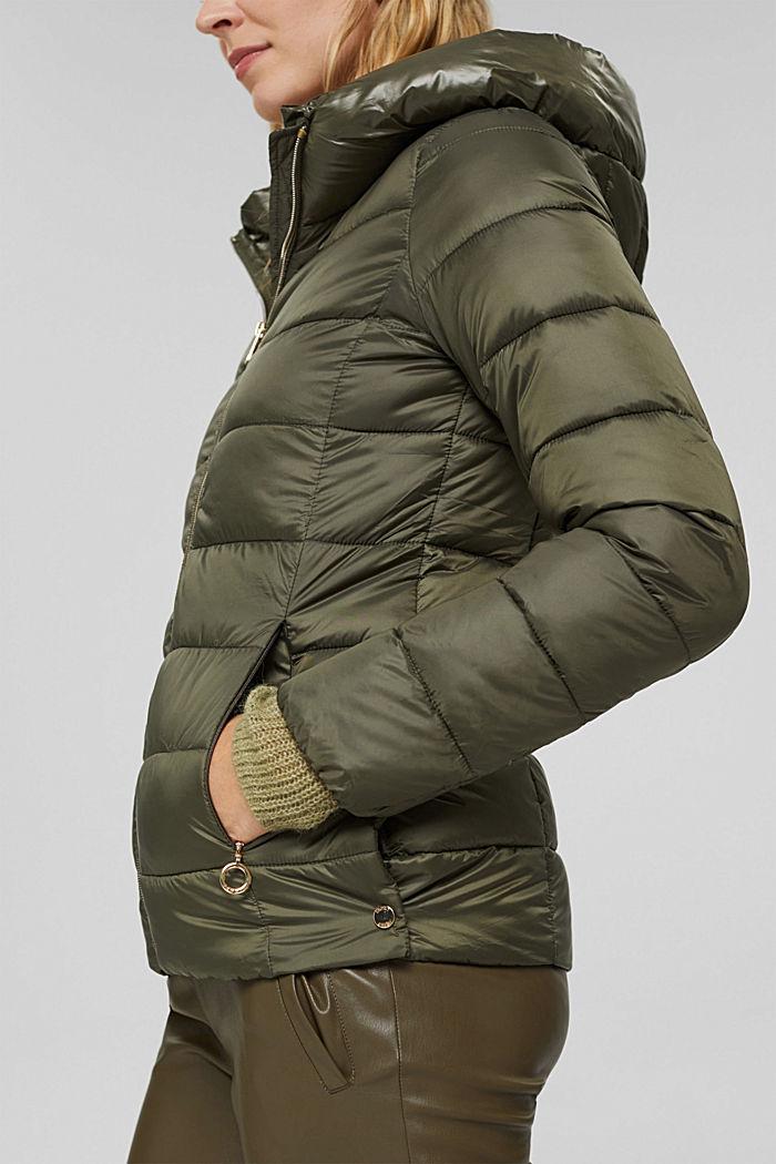 En matière recyclée: la veste matelassée à teneur en 3M™ Thinsulate™, DARK KHAKI, detail image number 2