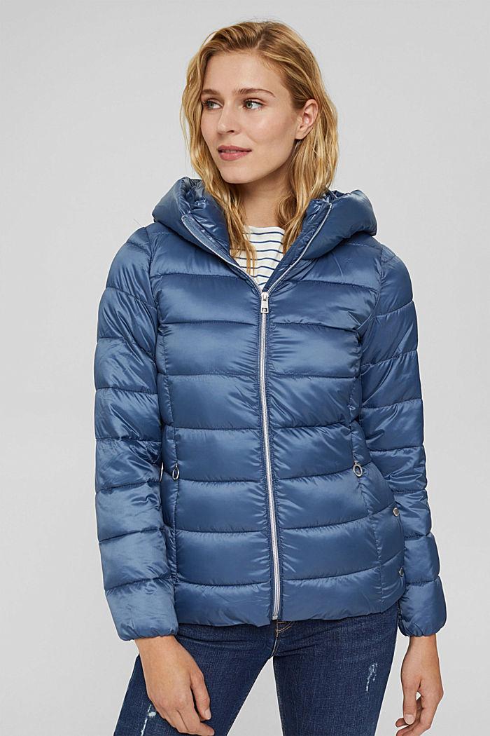 En matière recyclée: la veste matelassée à teneur en 3M™ Thinsulate™, GREY BLUE, detail image number 0