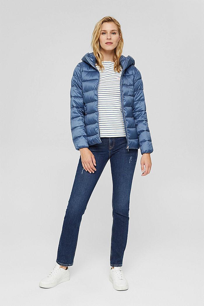 En matière recyclée: la veste matelassée à teneur en 3M™ Thinsulate™, GREY BLUE, detail image number 1