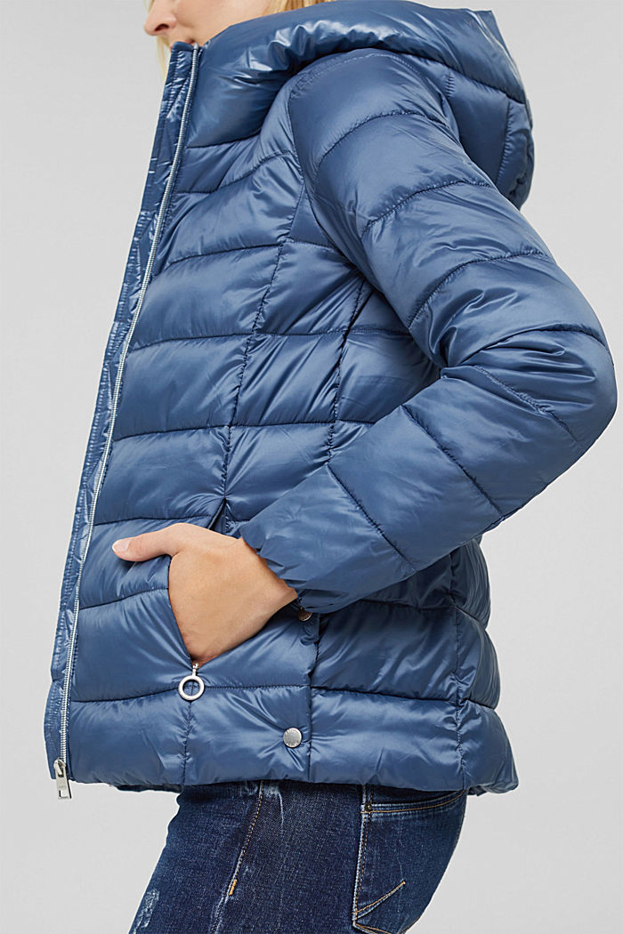 En matière recyclée: la veste matelassée à teneur en 3M™ Thinsulate™, GREY BLUE, detail image number 2