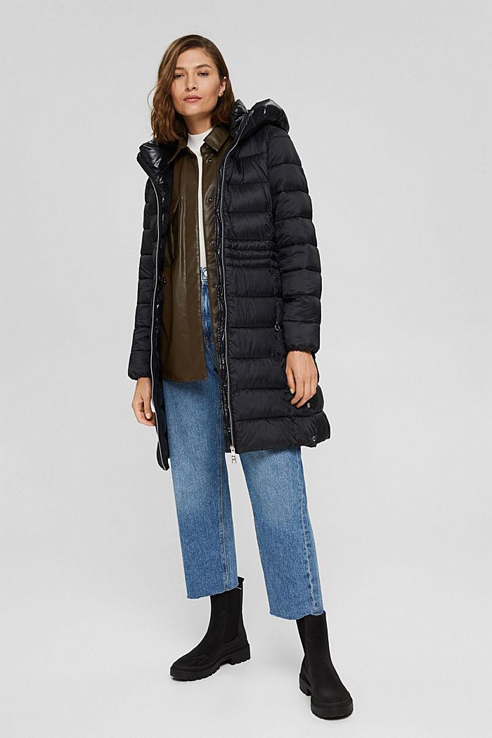 Reciclado: abrigo acolchado con Thinsulate 3M™, BLACK, detail image number 1