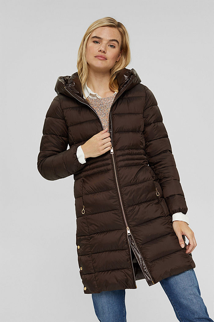 Recycled: quilted coat with 3M™ Thinsulate™, RUST BROWN, detail image number 0