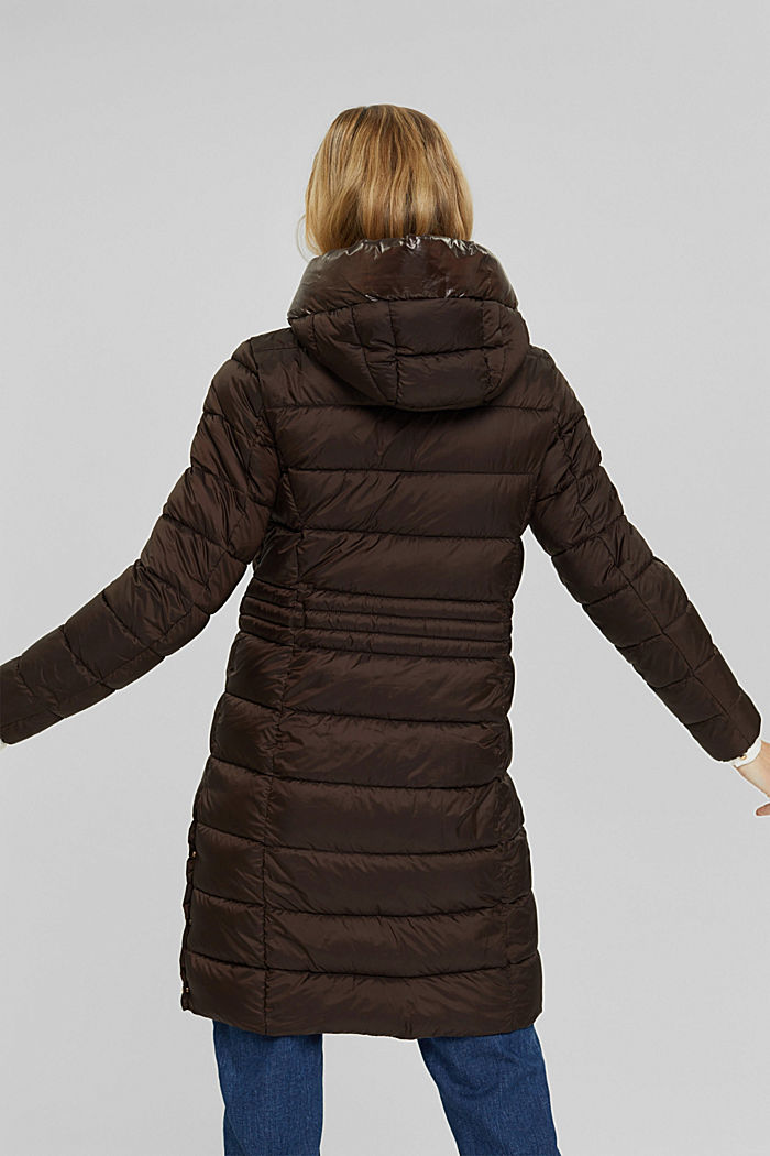 Recycled: quilted coat with 3M™ Thinsulate™, RUST BROWN, detail image number 3