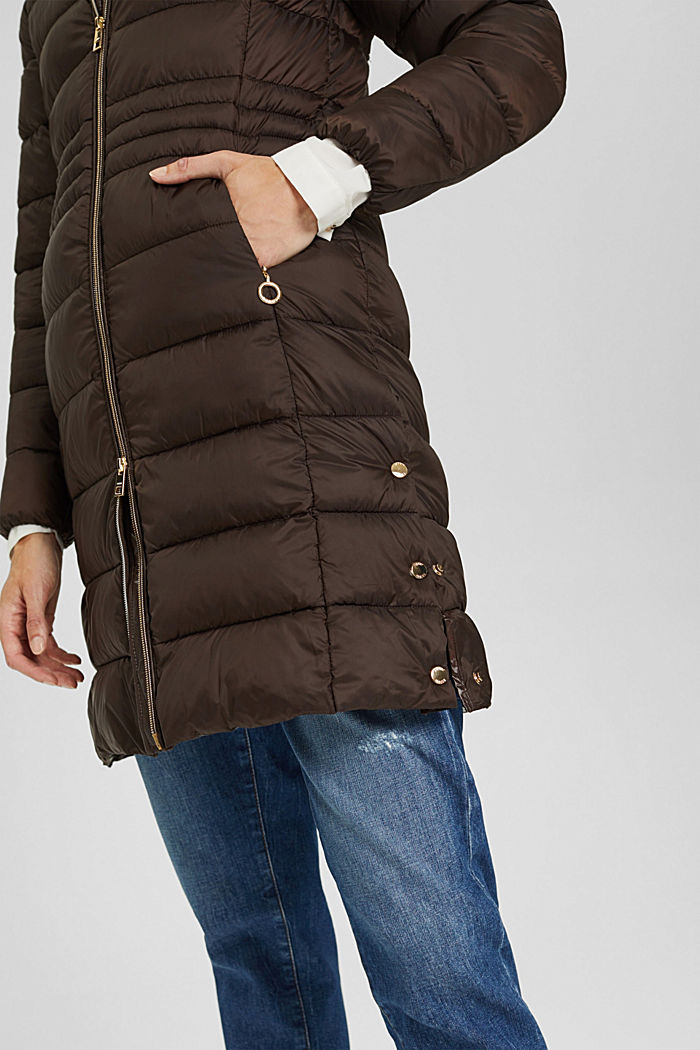 Recycled: quilted coat with 3M™ Thinsulate™, RUST BROWN, detail image number 2