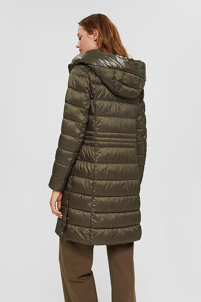 En matière recyclée: le manteau matelassé au rembourrage 3M™ Thinsulate, DARK KHAKI, detail image number 3
