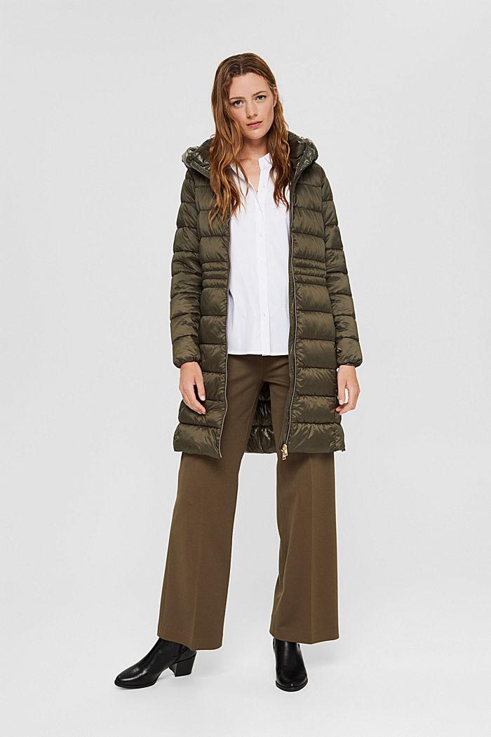 En matière recyclée: le manteau matelassé au rembourrage 3M™ Thinsulate, DARK KHAKI, detail image number 1