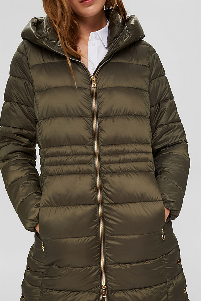 En matière recyclée: le manteau matelassé au rembourrage 3M™ Thinsulate, DARK KHAKI, detail image number 2