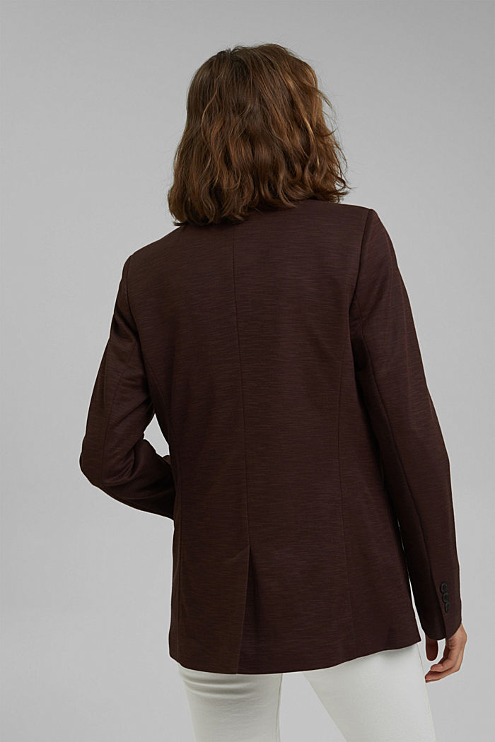 Double-breasted jersey blazer, RUST BROWN, detail image number 3