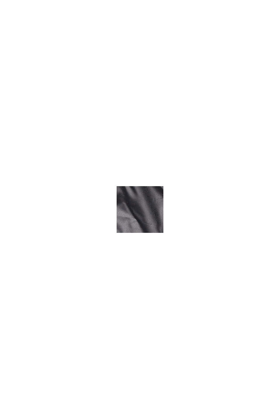 Recycelt: leichte Steppweste mit Kapuze, BLACK, swatch