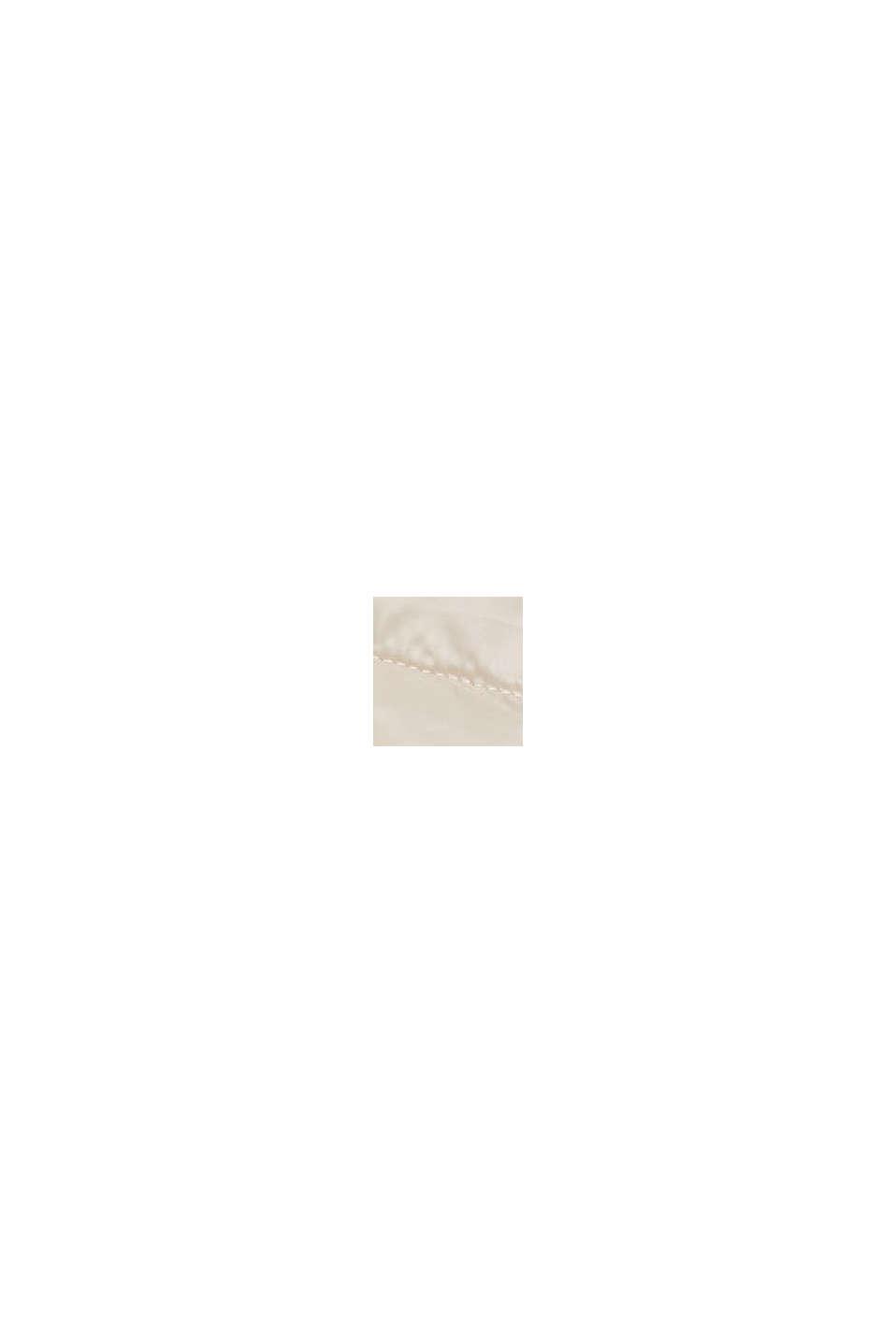 Recycelt: leichte Steppweste mit Kapuze, CREAM BEIGE, swatch