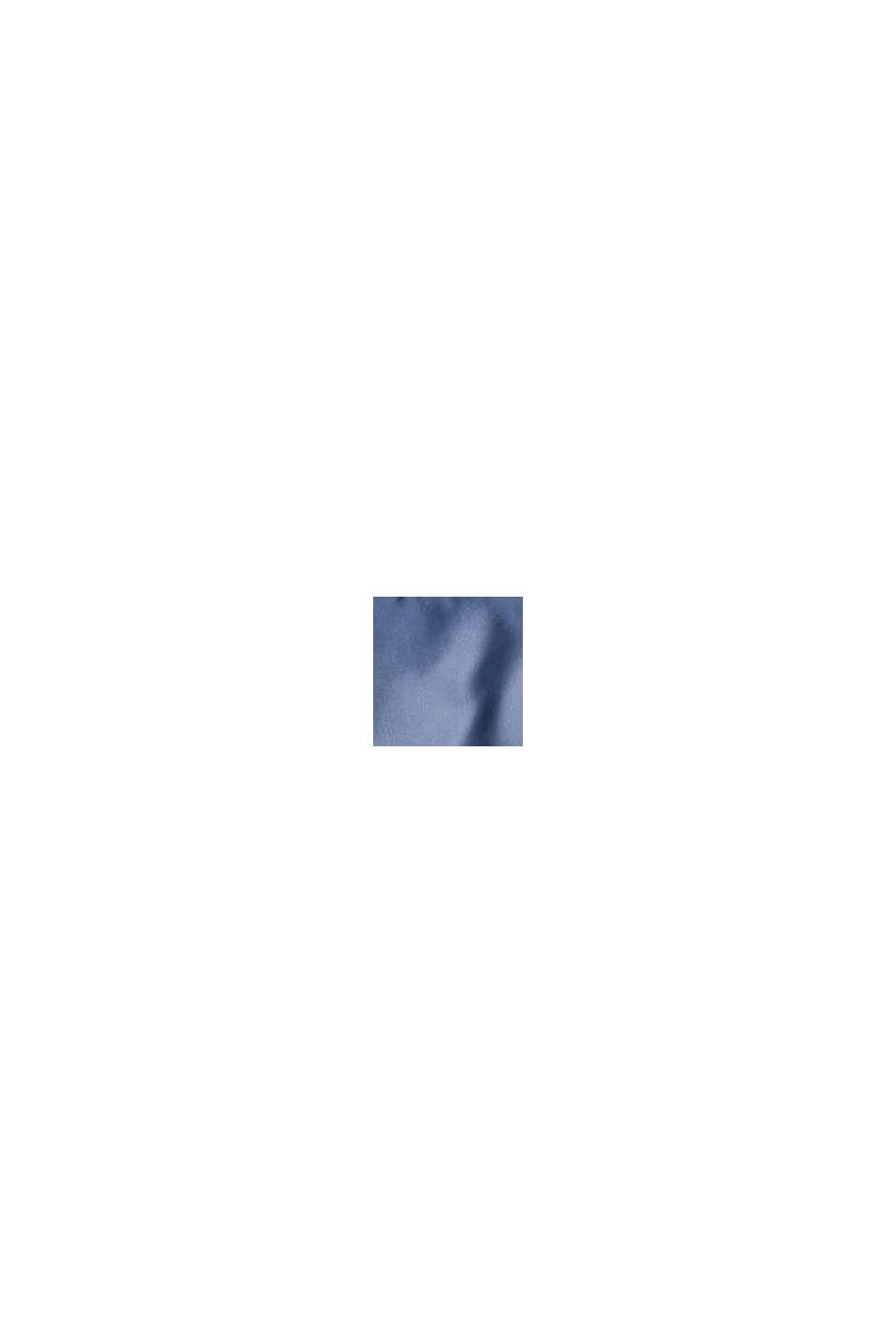 Recycelt: leichte Steppweste mit Kapuze, GREY BLUE, swatch