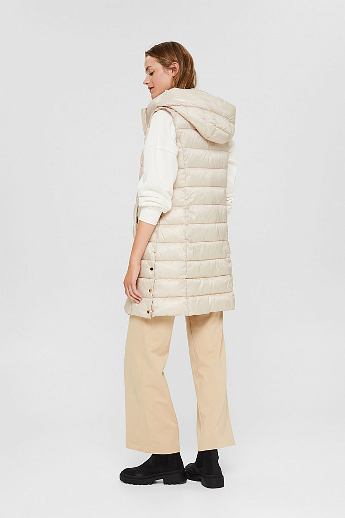 Recycled: long quilted body warmer 3M™ Thinsulate™, CREAM BEIGE, detail image number 3