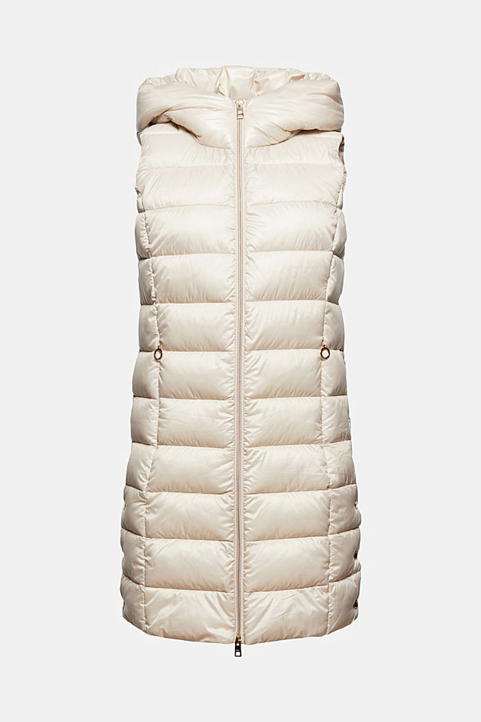 Recycled: long quilted body warmer 3M™ Thinsulate™, CREAM BEIGE, detail image number 6