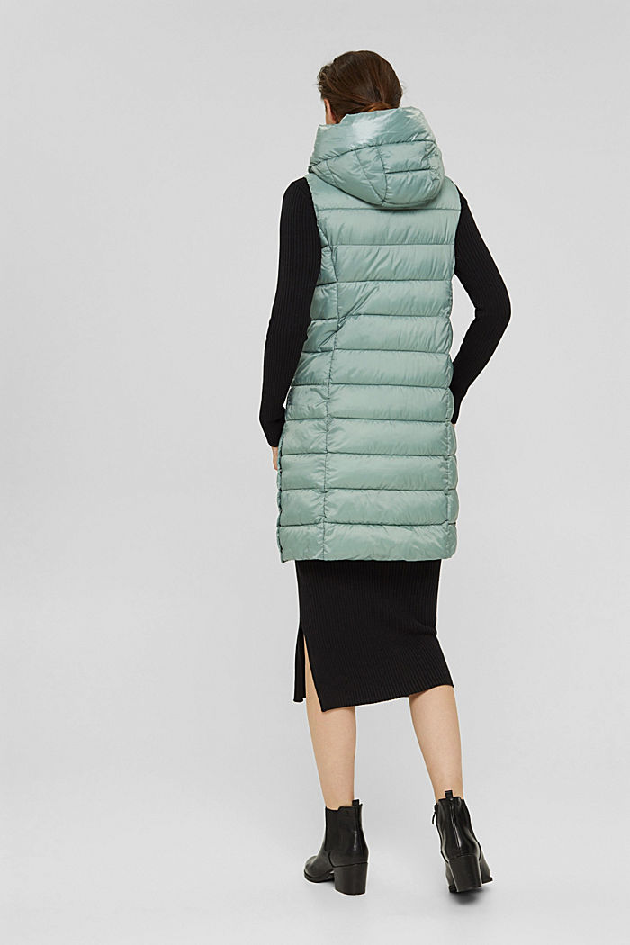 Recycled: long quilted body warmer 3M™ Thinsulate™, DUSTY GREEN, detail image number 3