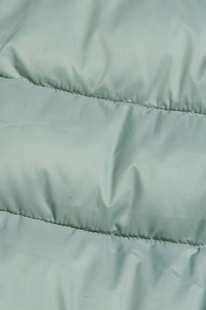 Recycled: long quilted body warmer 3M™ Thinsulate™, DUSTY GREEN, detail image number 4