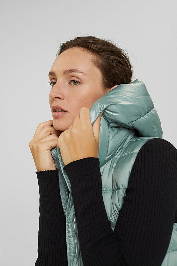 Recycled: long quilted body warmer 3M™ Thinsulate™, DUSTY GREEN, detail image number 7