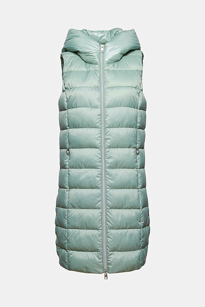 Recycled: long quilted body warmer 3M™ Thinsulate™, DUSTY GREEN, detail image number 8