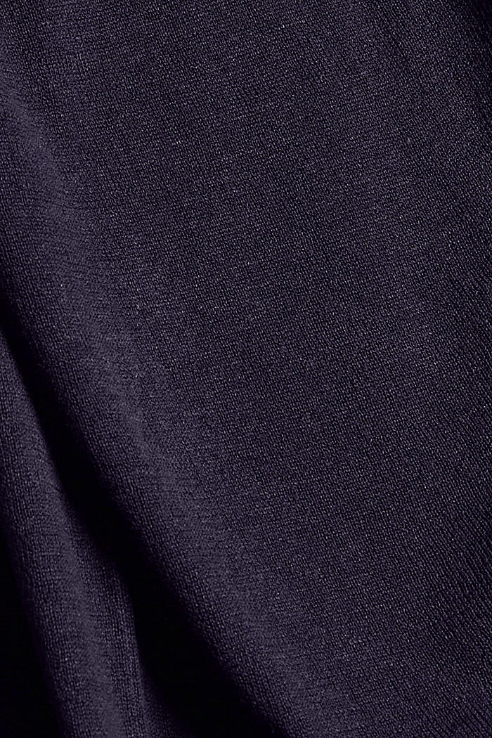 Long cardigan with linen, NAVY, detail image number 4