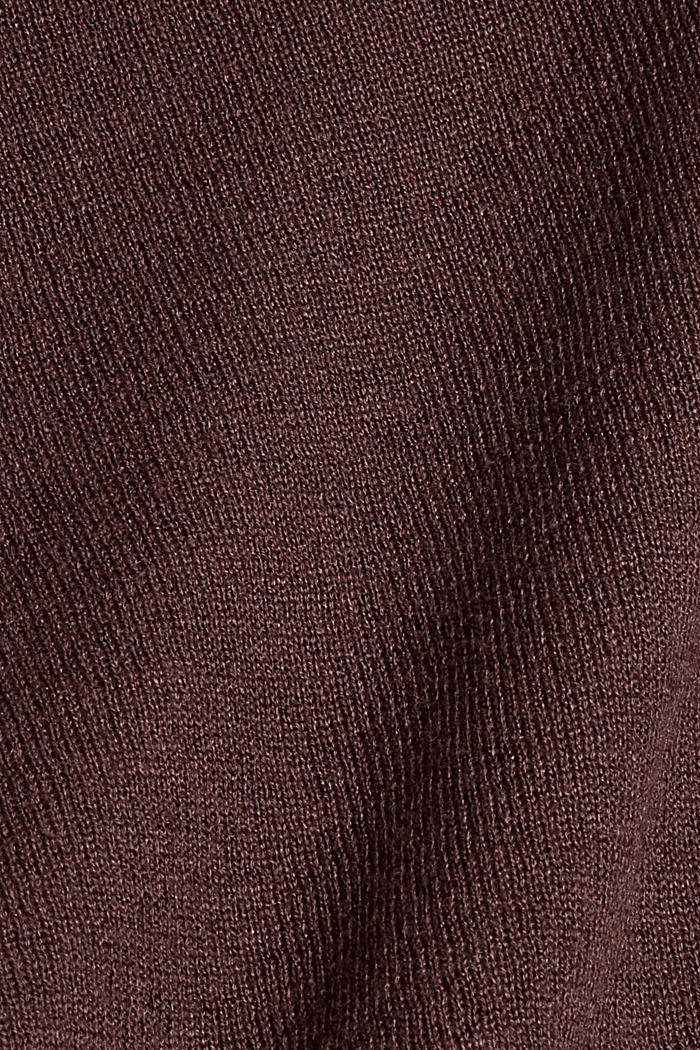 Mit Leinen: cropped Basic-Cardigan, RUST BROWN, detail image number 4