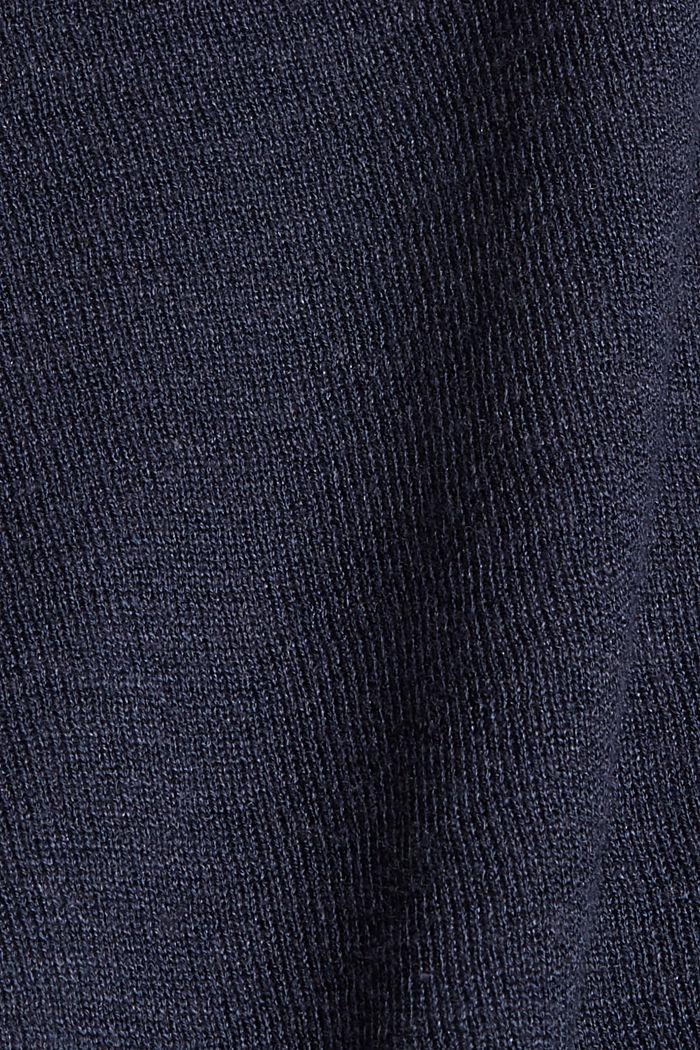 Met linnen: basic, cropped vest, NAVY, detail image number 4