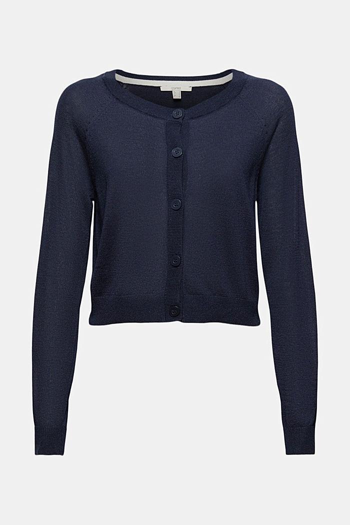 Met linnen: basic, cropped vest, NAVY, detail image number 6