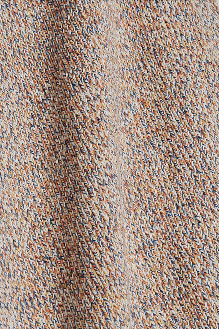 Multicoloured sleeveless jumper in 100% organic cotton, BLUSH, detail image number 4