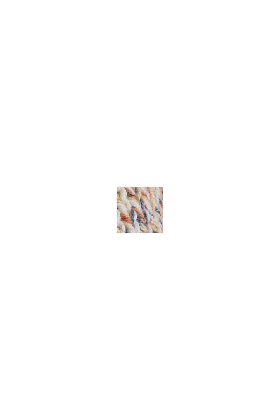 Multicoloured sleeveless jumper in 100% organic cotton, BLUSH, swatch
