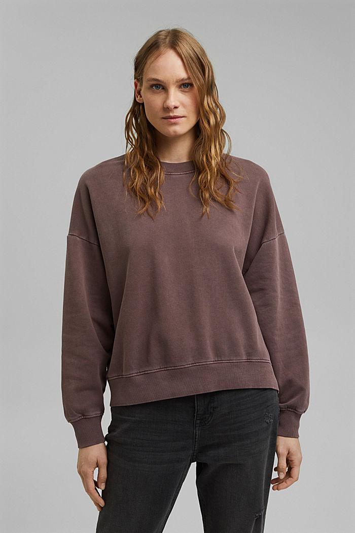 Sweatshirt made of 100% organic cotton, RUST BROWN, detail image number 0