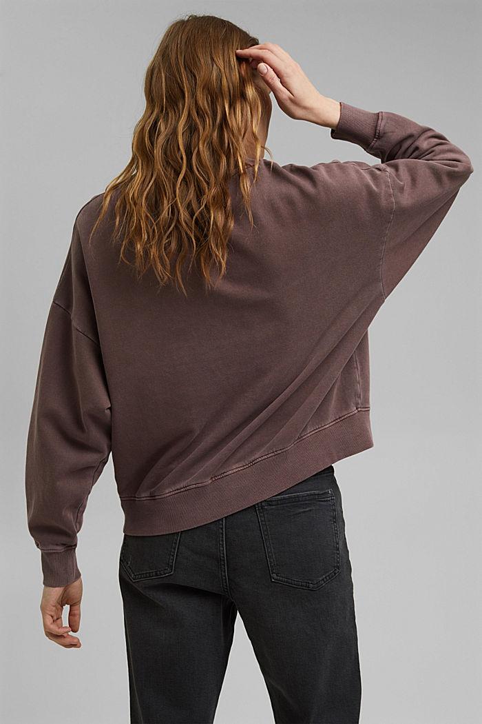 Sweatshirt made of 100% organic cotton, RUST BROWN, detail image number 3
